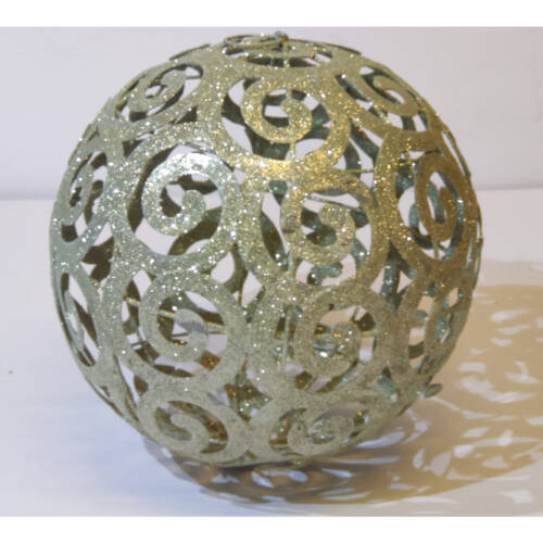 Ludibrium-Baumschmuck - glitzernde Kugel gross aus Metall