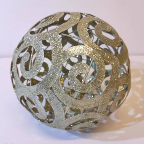 Ludibrium-Baumschmuck - glitzernde Kugel aus Metall