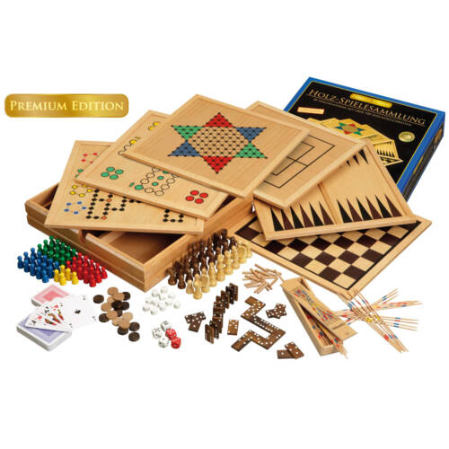 Ludibrium-Philos - Holz-Spielesammlung 100 - Premium Edition