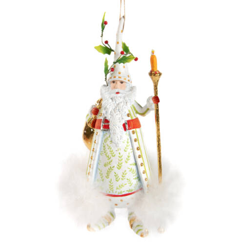 Ludibrium-Krinkles - Dash Away Candlelight Santa Ornament weiss