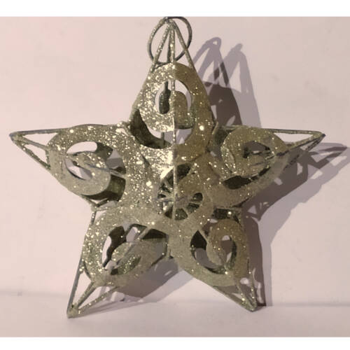 Ludibrium-Baumschmuck - kleiner Stern glitzernd aus Metall