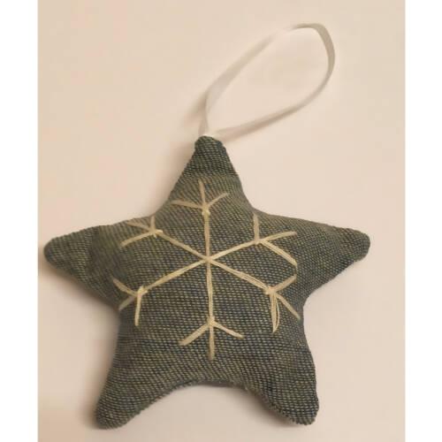Ludibrium-Baumschmuck - blauer Stern aus Stoff