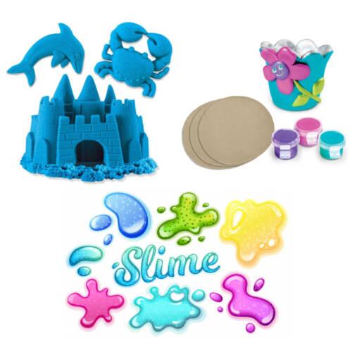 Kinetic Sand, Ton und Slime