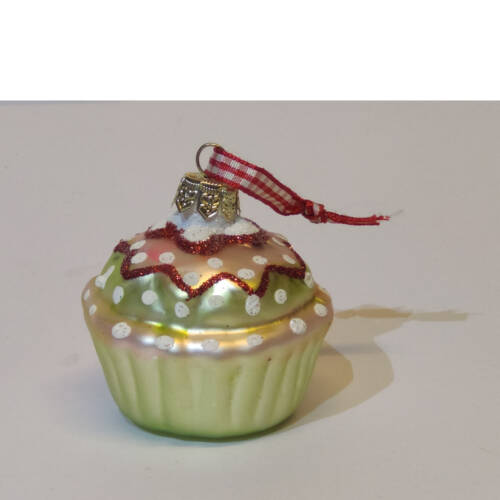 Ludibrium-Baumschmuck - Glasornament - Cupcake gelb