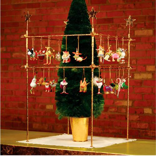 Square Mini Ornament Display with Stars