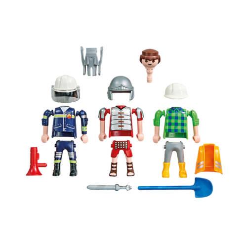 Playmobil 6566 - Universal Spielfigur 3 in 1 Maurer-Römer-Feuerwehrmann (Folienverpackung) Multiplay Figur Mann, umbaubar als Römer, Polizist oder Bauarbeiter