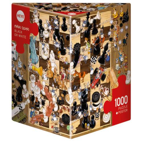 Ludibrium-Heye - Black or White Triangel Puzzle - 1000 Teile