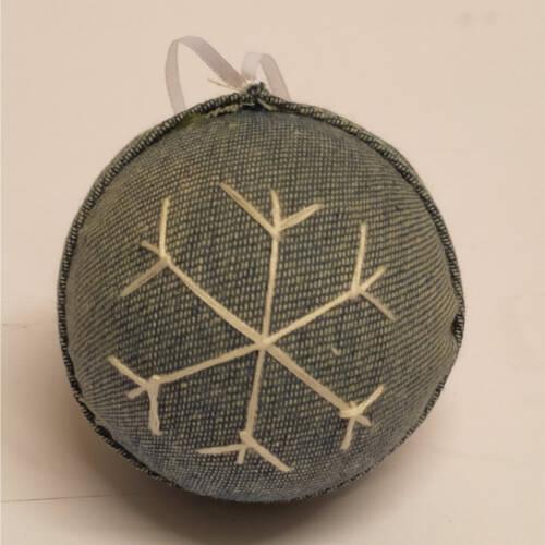 Ludibrium-Baumschmuck - Kugel mit Stoff überzogen