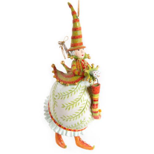 Ludibrium-Krinkles - Dash Away Frau Santa Ornament weiss