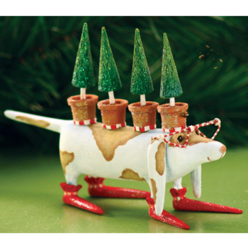 Ludibrium-Krinkles - Tree Hound Dog Christmas Ornament