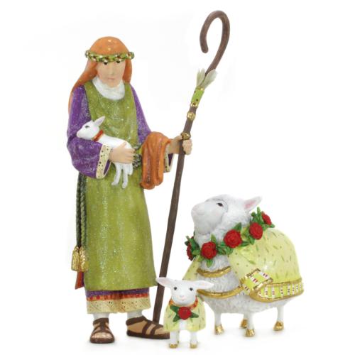 Ludibrium-Krinkles - Nativity Minifiguren – Hirte mit seinen Schafen