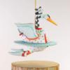 Ludibrium-Krinkles - Mini Swan a swimming Christmas Ornament