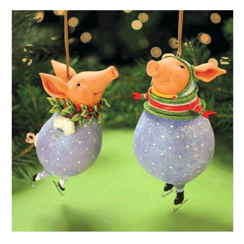 Ludibrium-Krinkles - Fred and Esther Pig Ornament
