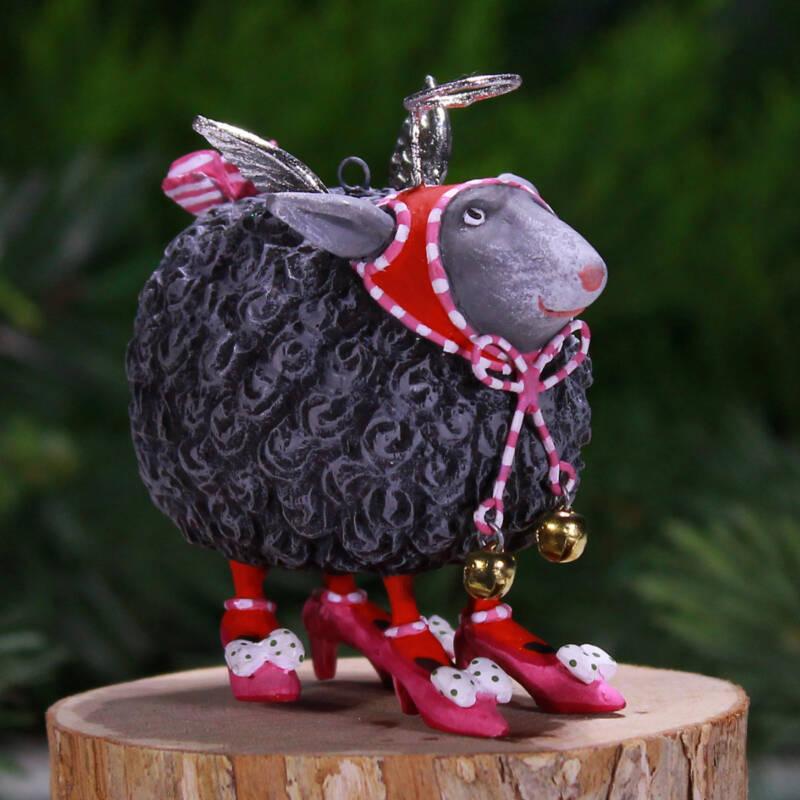 Ludibrium-Krinkles - Barbara Black Sheep Mini Ornament