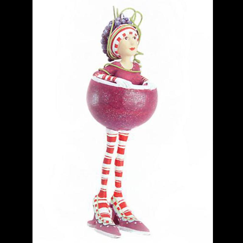 Ludibrium-Krinkles - Ruby Red Girl Wine Mini Ornament