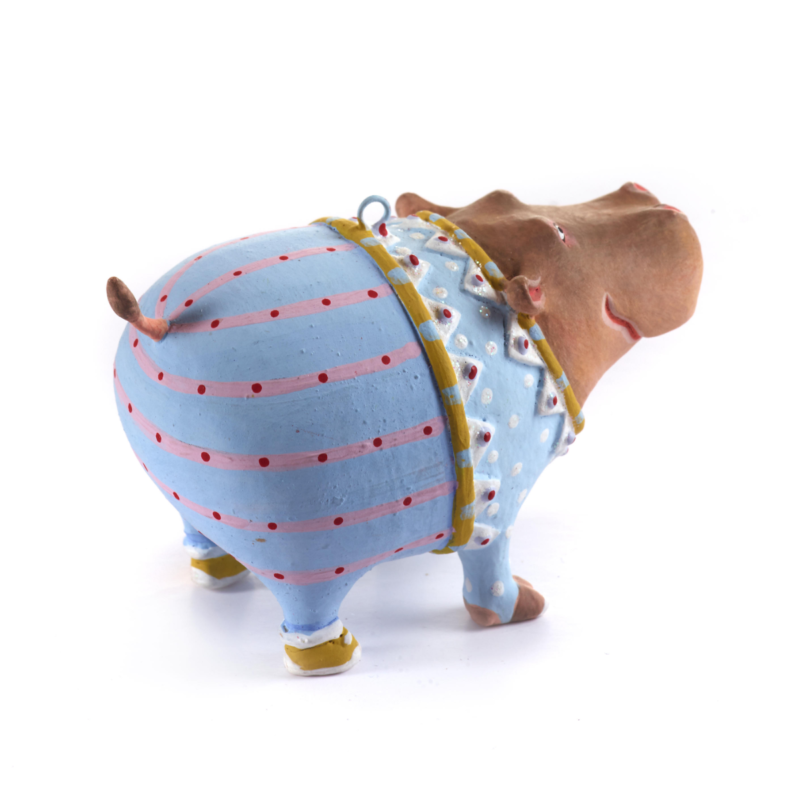 Ludibrium-Krinkles - Jambo Hugo Hippo Mini Ornament