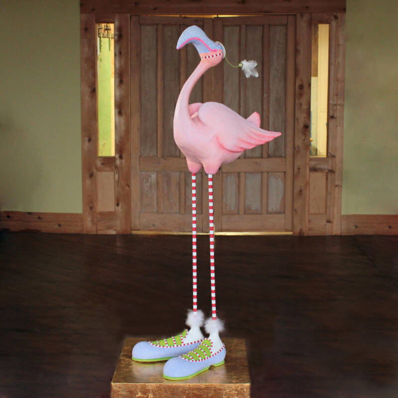 Ludibrium-Krinkles - Jumbo Jambo Sheldon Flamingo Figur