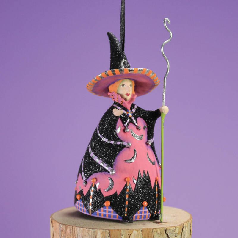 Ludibrium-Krinkles - Halloween - Mini Fledermaus Mond Hexe Ornament