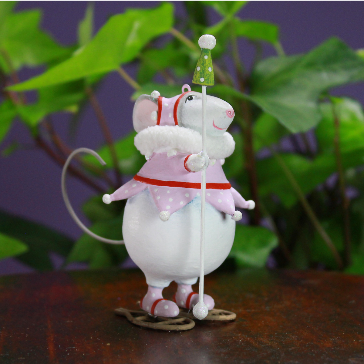 Ludibrium-Krinkles - Woodland - Mini Squeak Schneeschuh Maus Ornament
