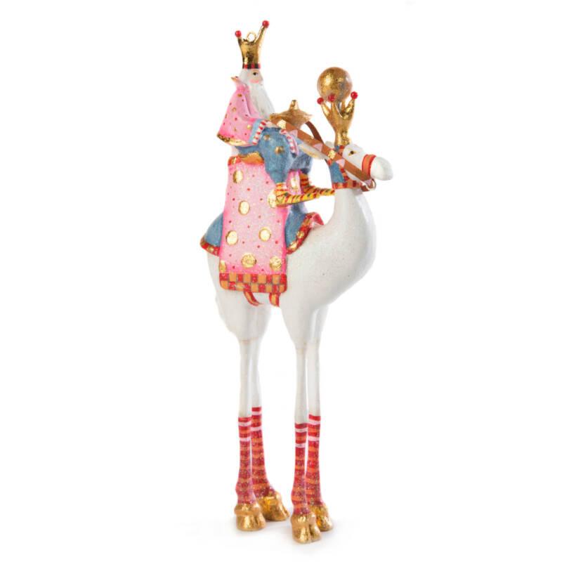 Ludibrium-Krinkles - Nativity Minifiguren – weisses Kamel mit Heilgem König Balthazar