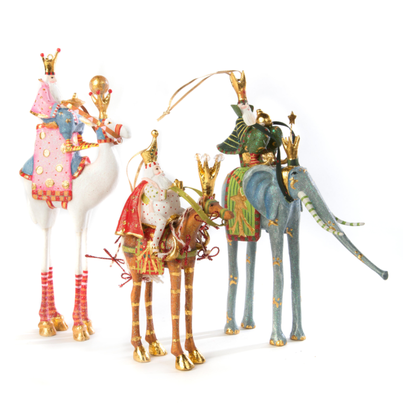 Ludibrium-Krinkles - Nativity Minifiguren – Elefant mit Heilgem König Casper