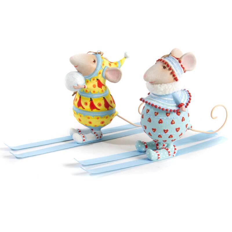 Ludibrium-Krinkles - Dash Away - Molly Ski Mouse Ornament