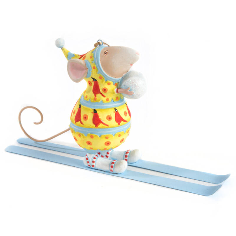Ludibrium-Krinkles - Krinkles - Dash Away - Max Ski Mouse Ornament