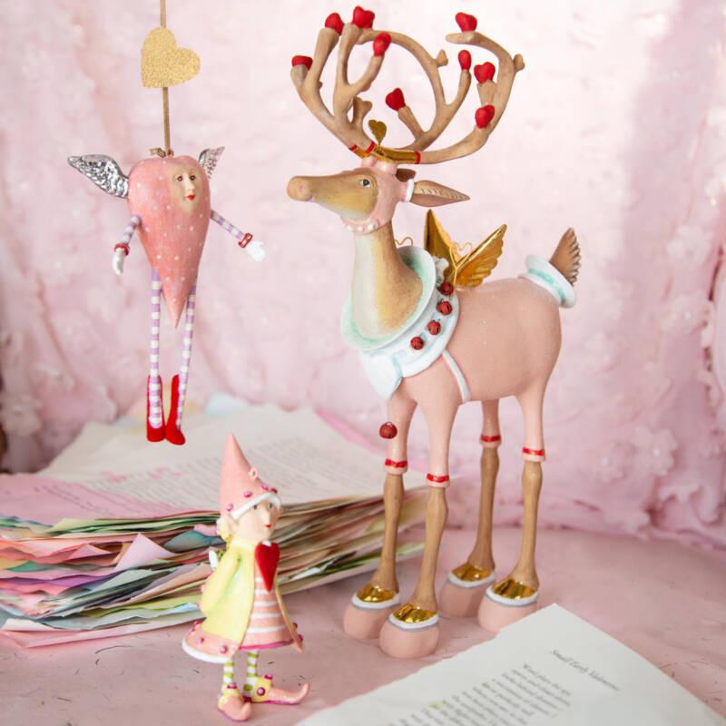 Ludibrium-Krinkles - Pink Open Heart Ornament