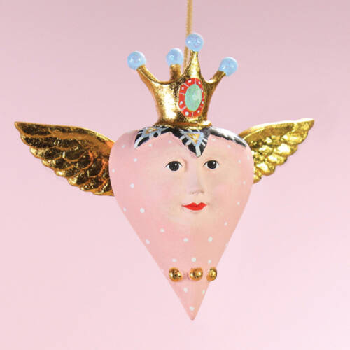 Ludibrium-Krinkles - Pink Heart with Wings Mini Ornament
