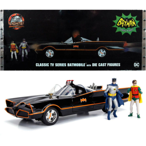 Ludibrium-Jada - Batmobile Classic TV Series 1966 mit einer Batman und Robin Figur 1:18