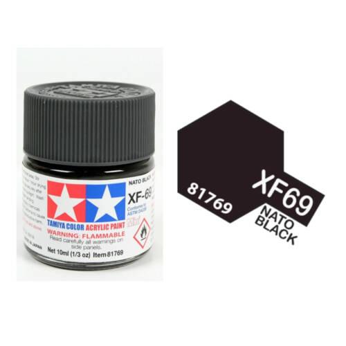 Ludibrium-Tamiya - Acryl Farbe Mini XF-69 Nato Schwarz 10ml