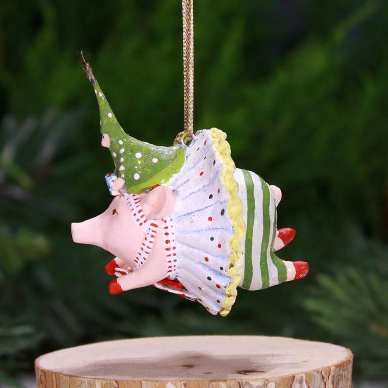 Ludibrium-Krinkles - Joyful Flying Pig Mini Ornament