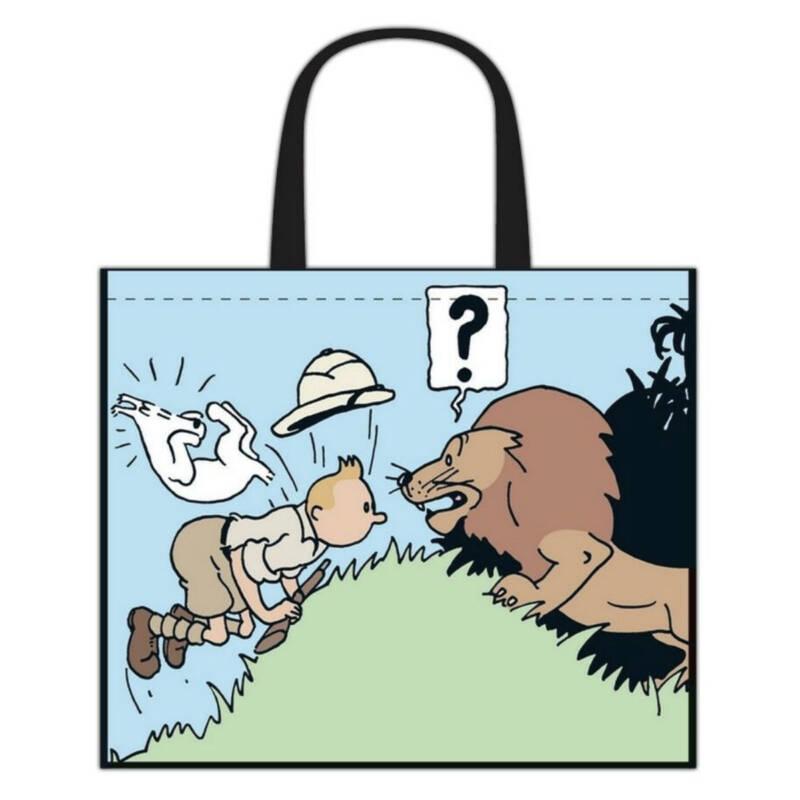 Ludibrium-Moulinsart - Kunststofftasche Tim und Struppi mit Löwe - halbwasserdichte Tasche