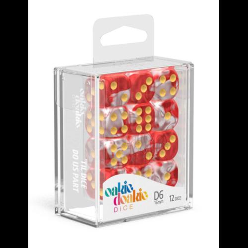Ludibrium-Oakie Doakie Dice W6 Würfel 16 mm Gemidice - Red Sky (12)