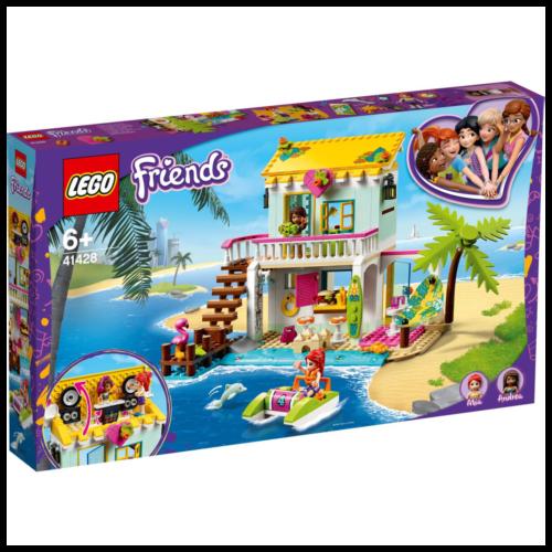 Ludibrium-LEGO Friends 41428 - Strandhaus mit Tretboot - Klemmbausteine