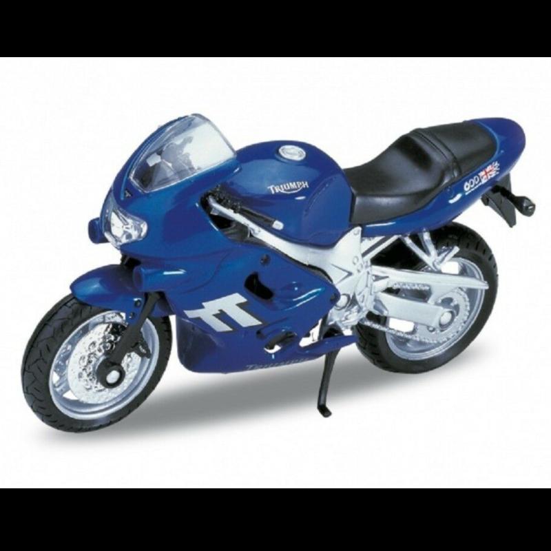 Ludibrium-Maisto - Triumph TT 600 blau 1:18 -Diecast Modell Motorrad 39355
