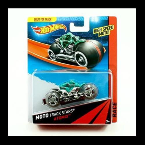 Ludibrium-Hot Wheels - ATOMIX Hot Wheels 2013 Moto Track Stars High Speed Motorcycle
