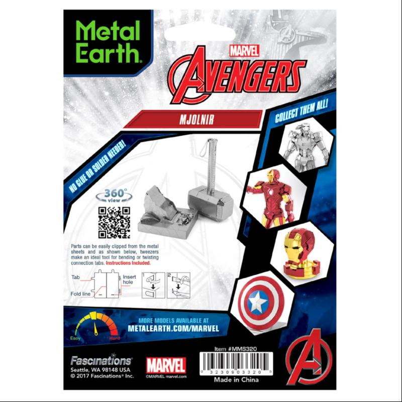 Ludibrium-Metal Earth - Marvel Avenger Mjolnir MMS320