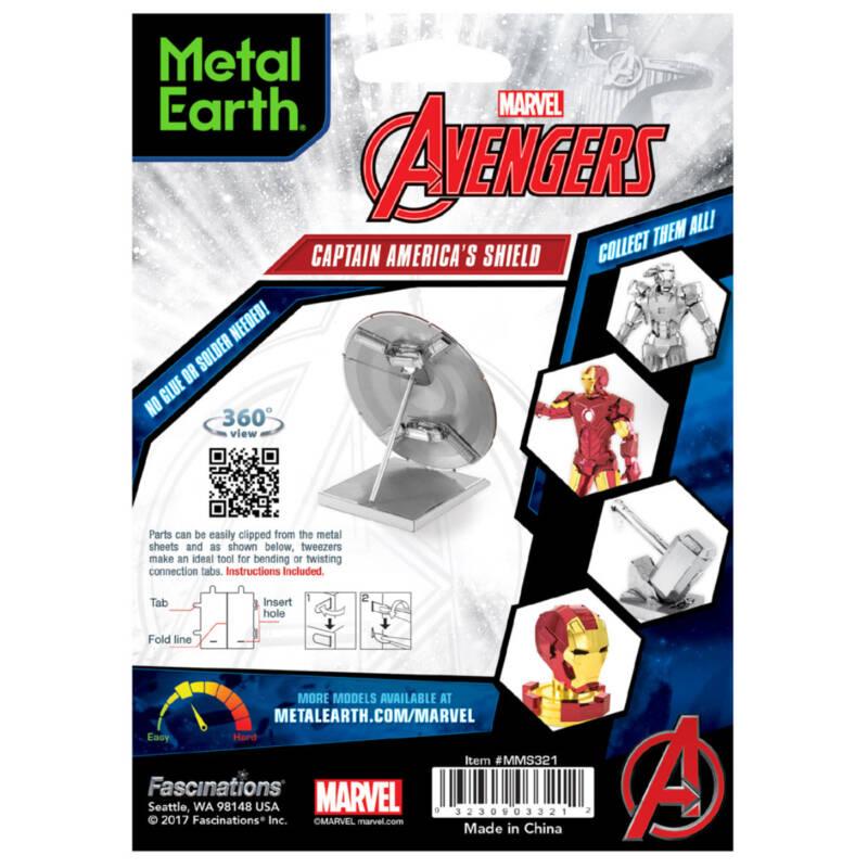 Ludibrium-Metal Earth - Marvel Avenger CptAm Shield MMS321