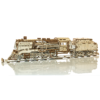 Ludibrium-Wooden.City - Wooden Express mit Tender + Schienen WR323 - Holzbausatz