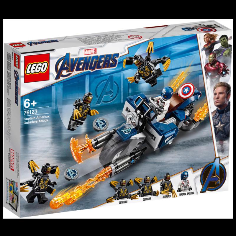 "Ludibrium-LEGO DC Super Heroes 76123 - Captain America ""Outrider Attacke"" - Klemmbausteine"