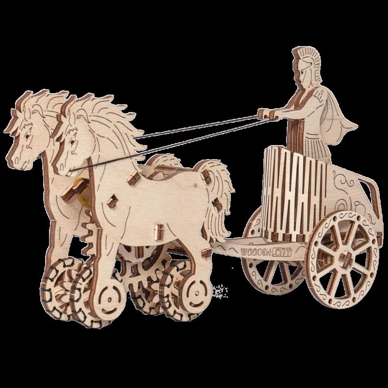 Ludibrium-Wooden.City - Römischer Streitwagen WR301 (Roman Chariot) - Holzbausatz