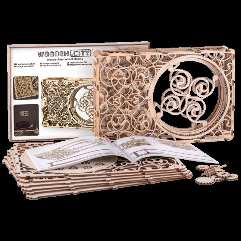 Ludibrium-Wooden.City - Mechanisches Bild WR311 - Holzbausatz