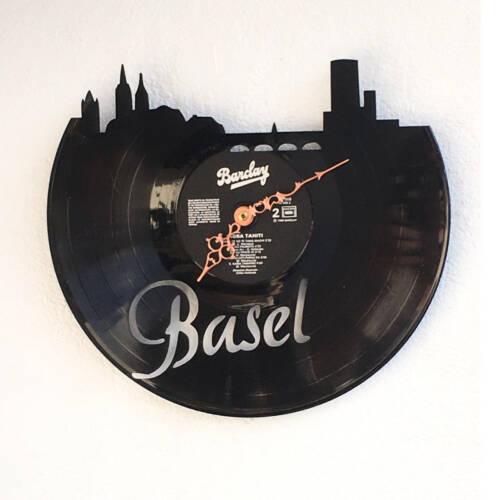 Schallplatten-Wanduhr - Motiv Basel