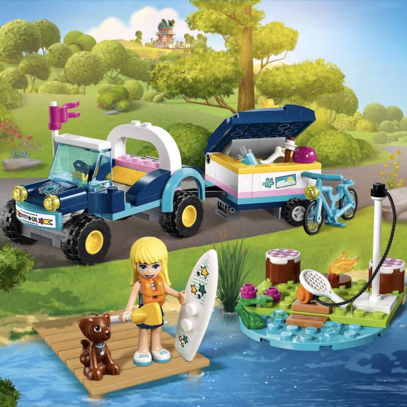 Ludibrium-LEGO Friends® 41364 - Stephanies Cabrio mit Anhänger - Klemmbausteine