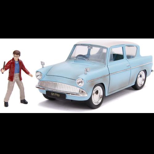 Ludibrium-Jada - 1959 Ford Anglia mit einer Harry Potter Figur 1:24