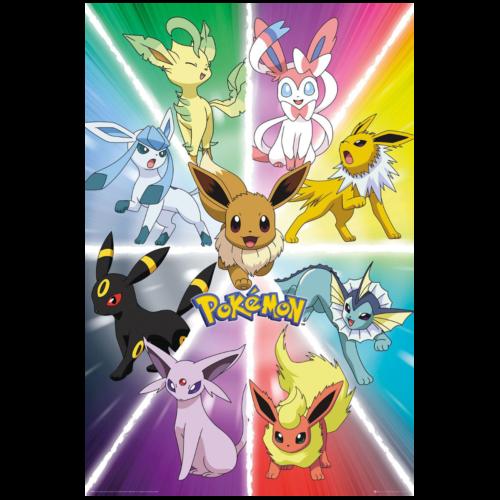 Ludibrium-Pokémon - Poster Eevee Evolution