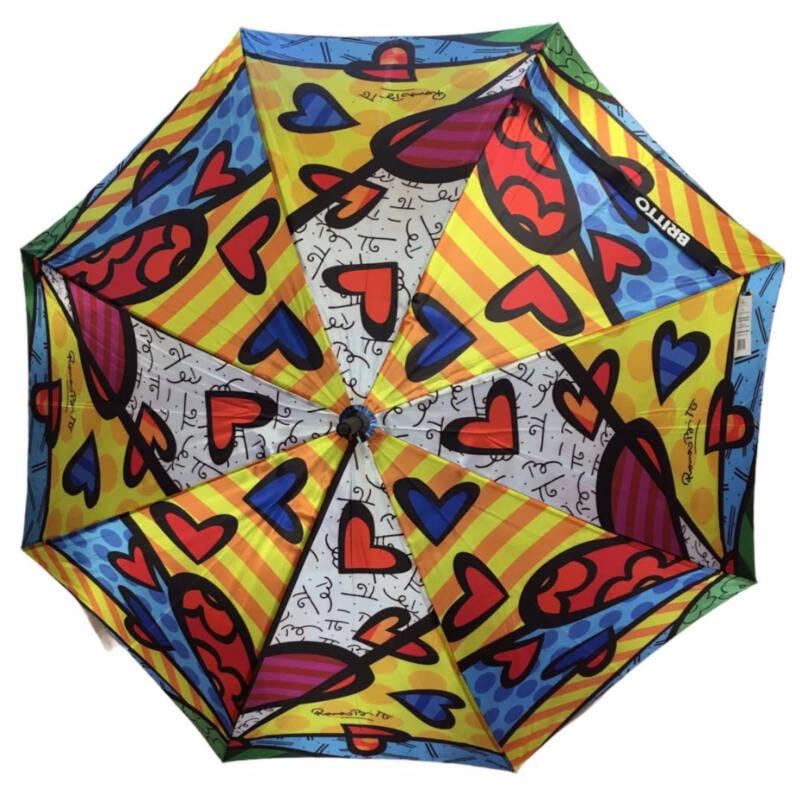 "Ludibrium-Romero Britto Stockschirm - Regenschirm ""A new Day"""