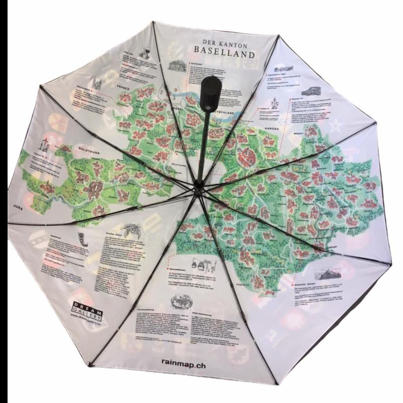 Ludibrium-Rainmap Taschenschirm - Historische Karte Baselland