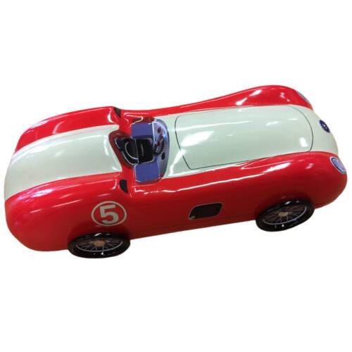 Ludibrium-Blechdose - Oldtimer Rennwagen No 5 - rot und weiss
